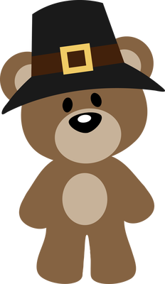 232x400 Autumn, Fall Or Thanksgiving Pilgrim Teddy Bear Clip Art Clip