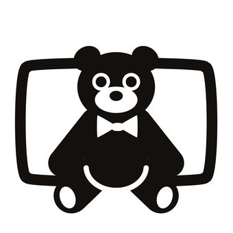340x340 Free Silhouette Vector Bear Stuffed Animals