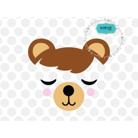 458x458 Pin By Kalindi Prints On Svg Files Bear Face, Bear