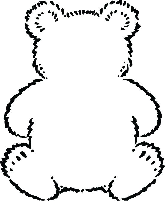 550x670 Silhouette Of Bear Face Polar Outline Drawing Teddy Simple Design