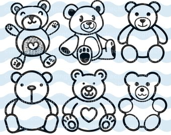 340x270 Teddy Bear Dxf Etsy