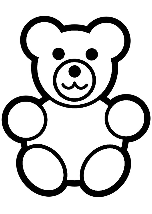 531x750 Coloring Page Teddy Bear