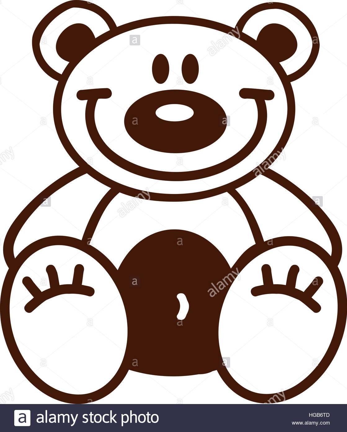 1119x1390 Outline Of A Teddy Bear