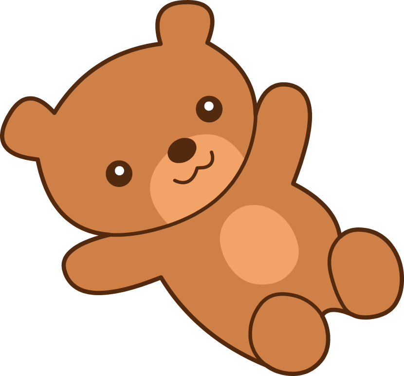 830x772 Pink Baby Bear Outline Clipart Collection