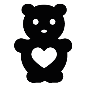 283x283 Teddy Bear Heart Silhouette Silhouette Of Teddy Bear Heart