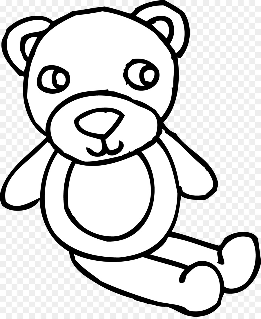 900x1100 American Black Bear Teddy Bear Clip Art