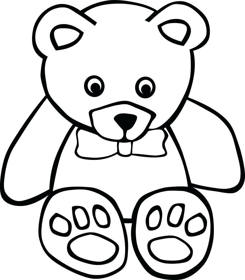 787x900 Outline Of A Teddy Bear