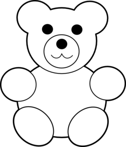 255x299 Xmas Bear Silhouette Pattern Free Printable Teddy Bear Clip Art
