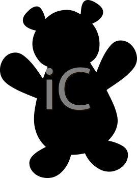 269x350 Animal Silhouette Of A Teddy Bear