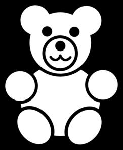 243x297 Circle Teddy Bear Black And White Clip Art