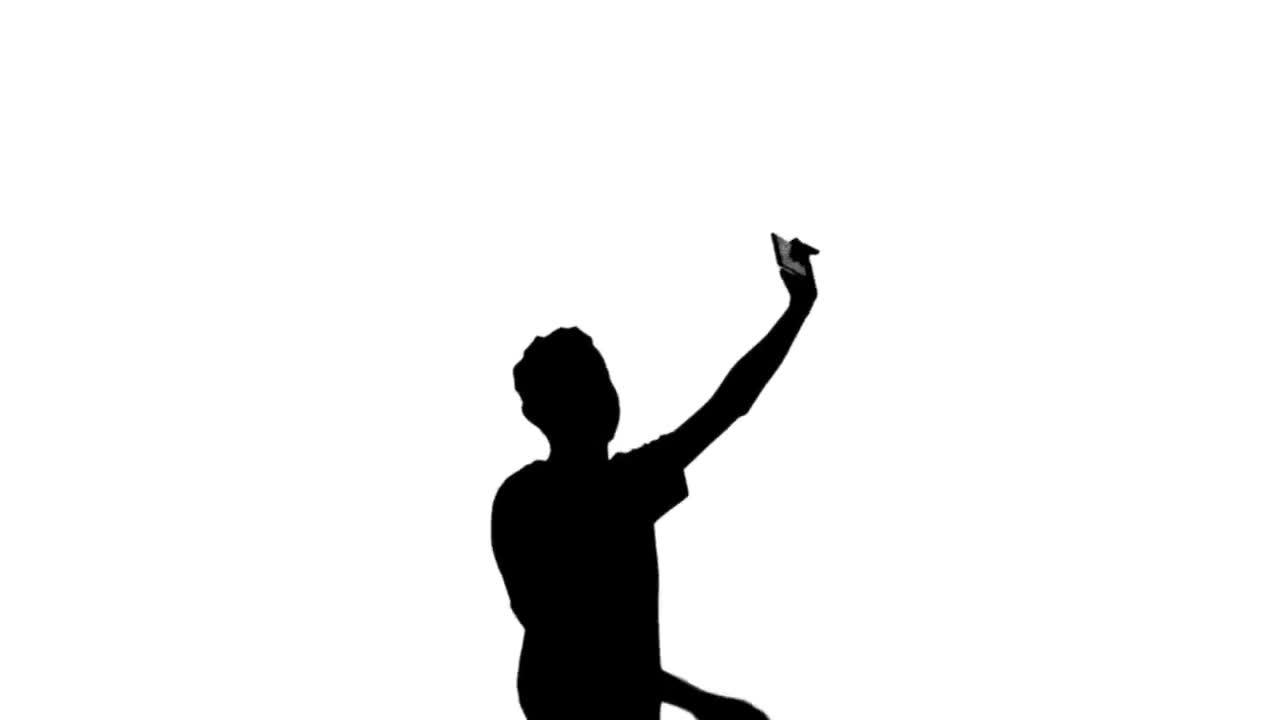 1280x720 Silhouette Teen Mobile