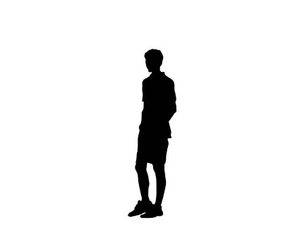435x326 Silhouette Clipart Teenager