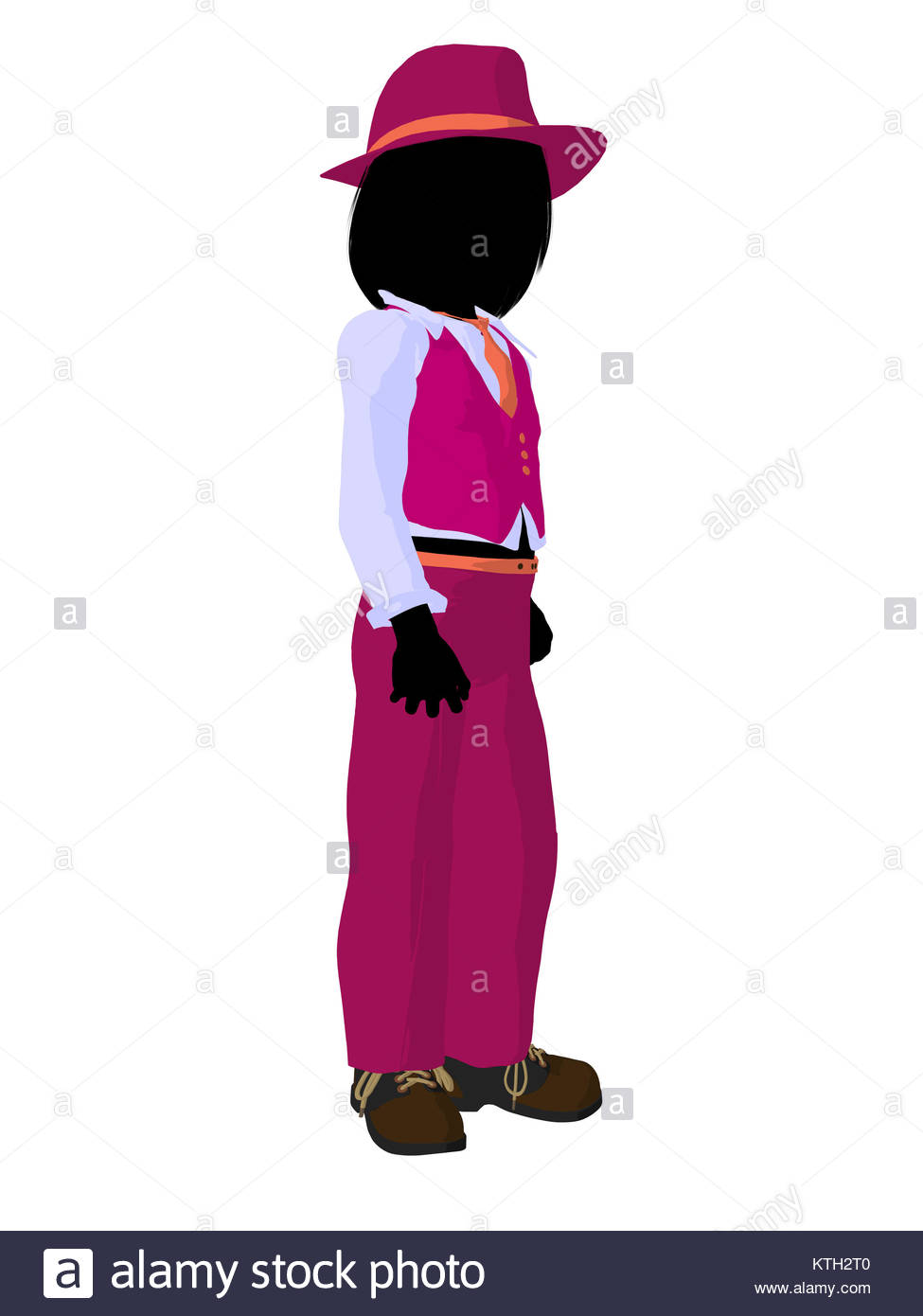 975x1390 Teen Business Silhouette Illustration On A White Background Stock