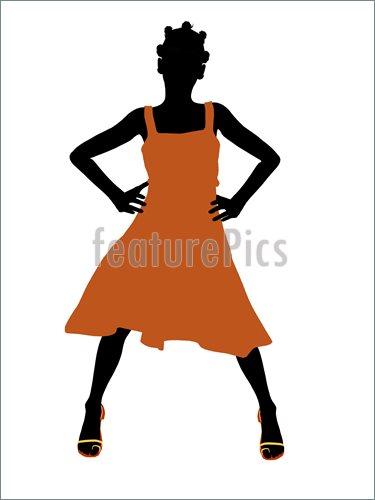 375x500 Free Teen Silhouette Clipart