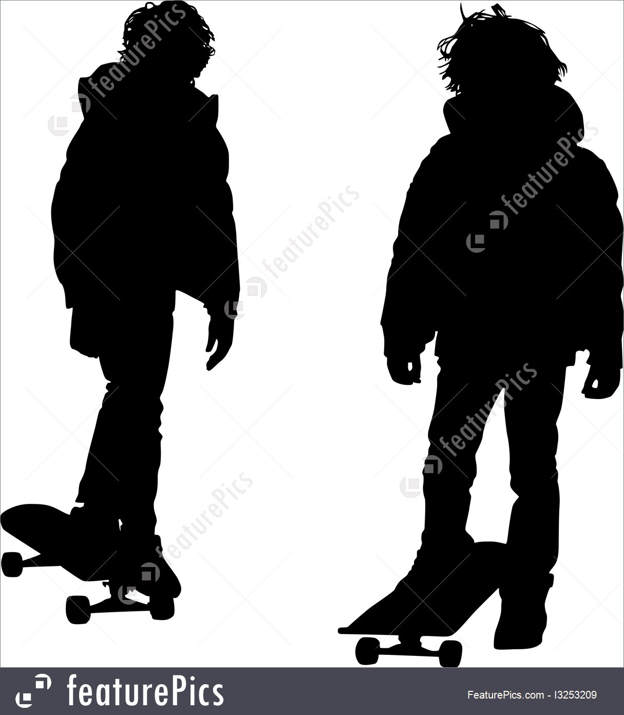 1215x1392 Illustration Of Teen Silhouette
