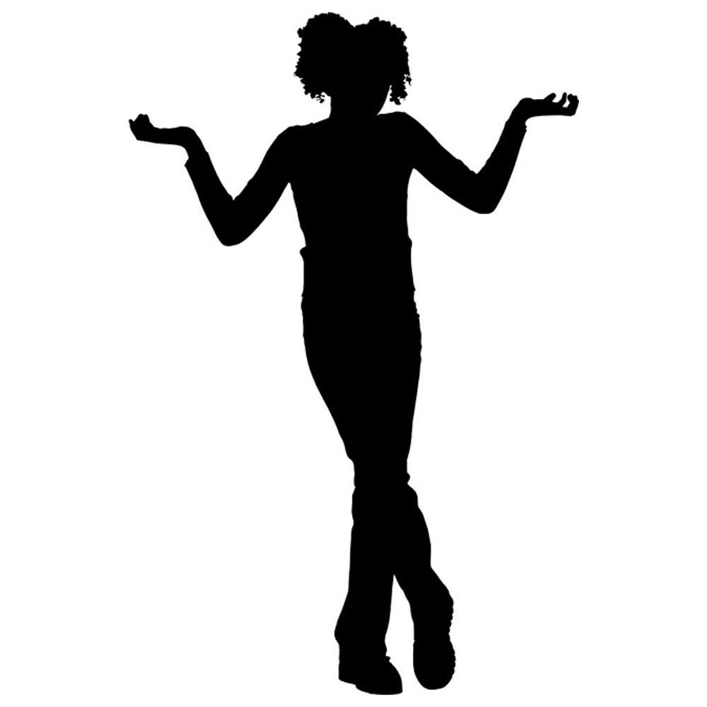 1000x1000 Teenage Girl Silhouette Stencil By Crafty Stencil Crafty Stencils