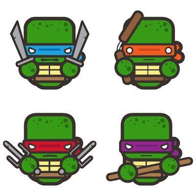 400x400 Teenage Mutant Ninja Turtle Characters Svg Layered Cutting File