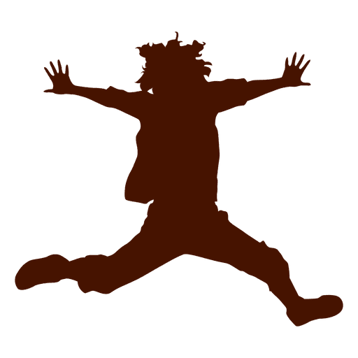 512x512 Teenager Jumping Silhouette