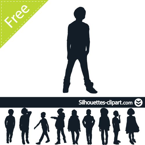 500x500 Teenager Vector Silhouette Silhouettes Clipart Silhouettes