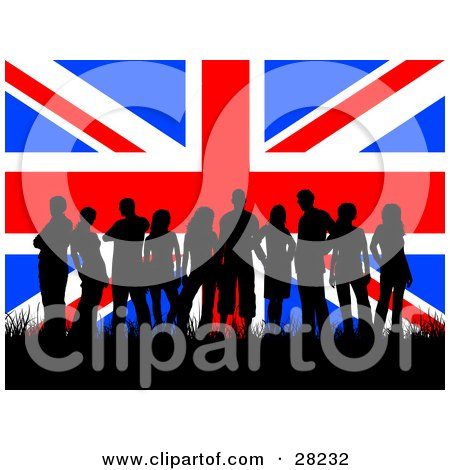 450x470 Royalty Free (Rf) Clipart Of Union Flags, Illustrations, Vector
