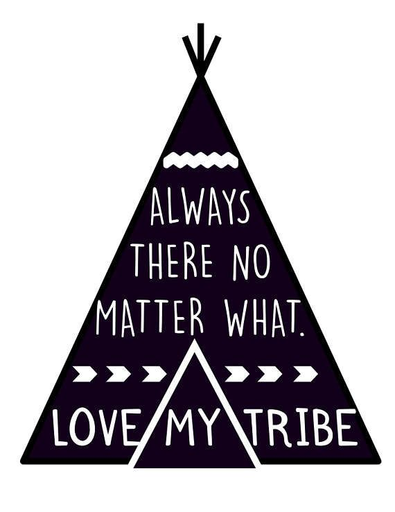 570x738 Teepee Svg Love My Tribe Svg Dxf Silhouettes, Cricut And Studio