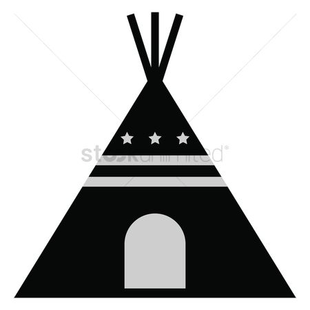 Teepee Silhouette At Getdrawings Free For Personal Use Teepee