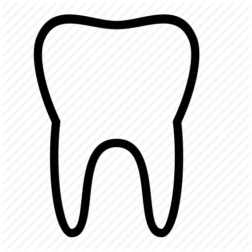 512x512 Image Result For Svg Tooth Outline Cricut Outlines