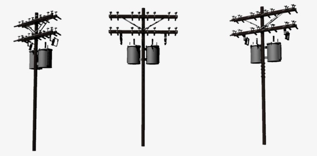 650x320 Roadside Poles, Telephone Pole, Game, Three View Png And Psd File