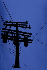 190x285 Telephone Pole Silhouette By Shopppe Spreadshirt