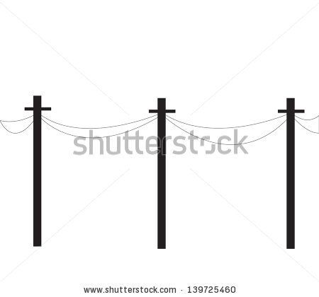 450x420 Telephone Poles Line, Tech, High, Pole, Wire, Power, Cable, Black