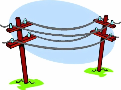 490x364 Wire Clipart Telephone Pole