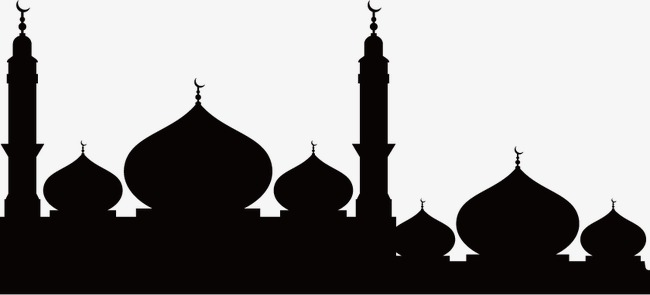 650x295 Mosque Silhouette, Mosque, Temple, Building Silhouette Png