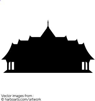335x355 Download Temple Buddhist Silhouette
