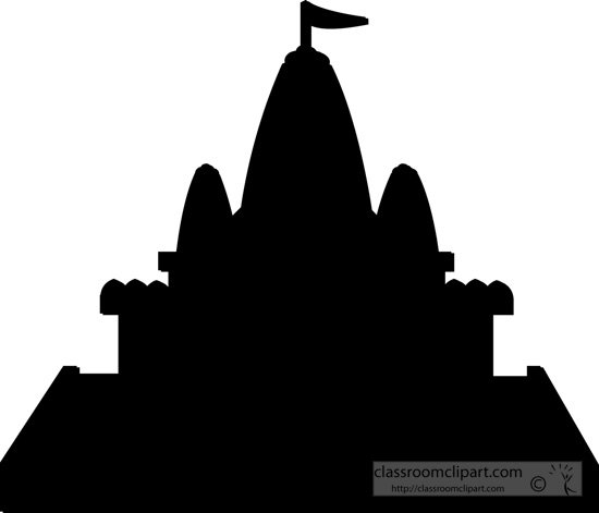 550x471 Silhouette Of A Buddhist Temple Clipart Station