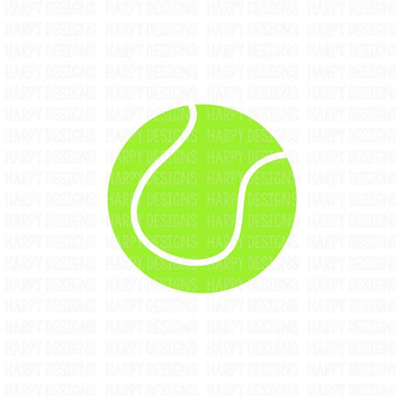 570x570 Tennis Svg, Tennis Ball Svg, Sports Svg, Cricut Files, Silhouette