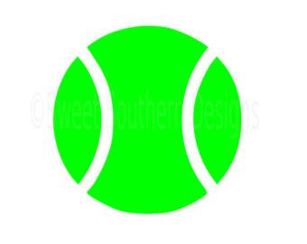 340x270 Tennis Ball Svg Etsy