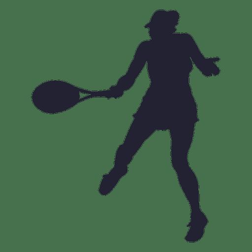 512x512 Tennis Player Girl Silhouette