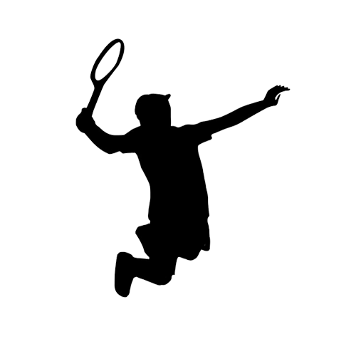 500x500 Players 0004 Jumping Tennis Player Silhouette