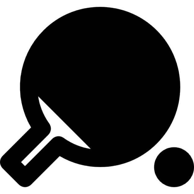 626x626 Table Tennis Racket And Ping Pong Ball Icons Free Download