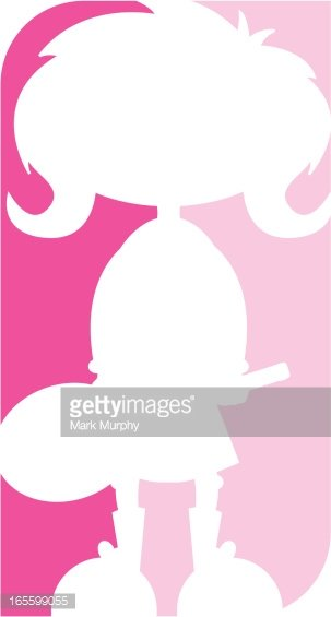 303x565 Tennis Girl Silhouette Icon Premium Clipart