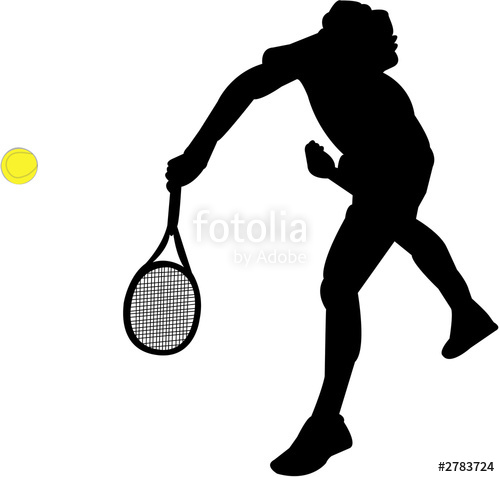 500x477 Tennis Player Silhouettes Stock Photo And Royalty Free Images