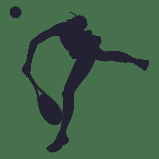 512x512 Girl Tennis Player Silhouette 2