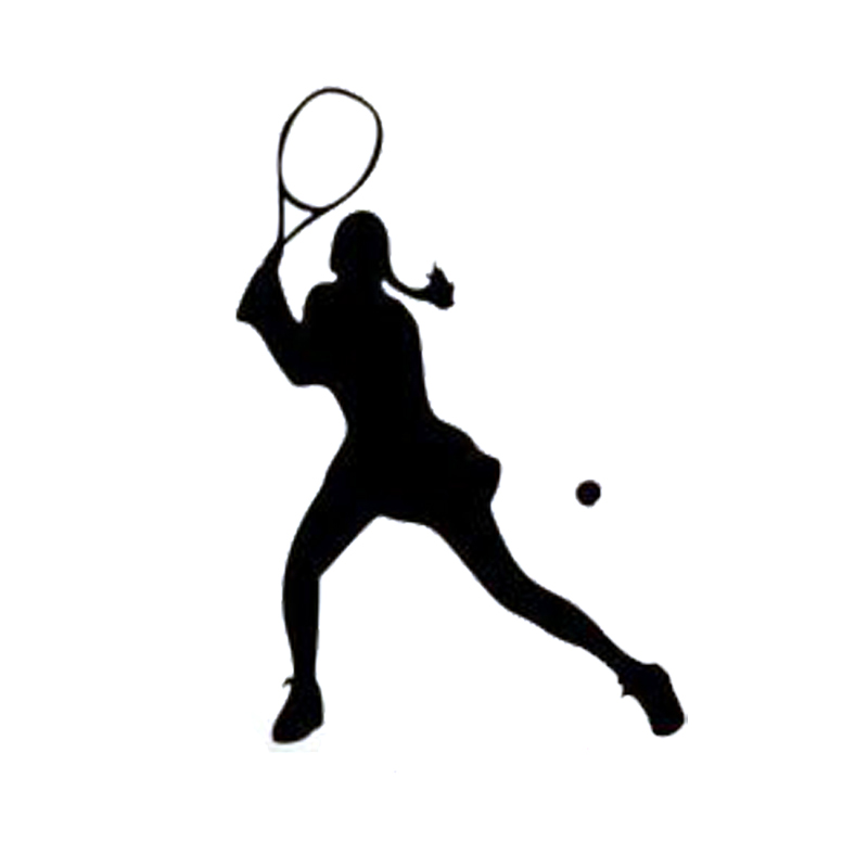 Tennis Player Silhouette