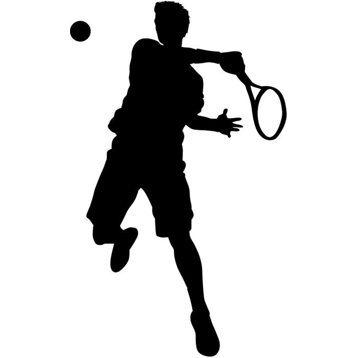700x700 Tennis Player Wall Sticker Tennis Wall Decal Kids School Sports
