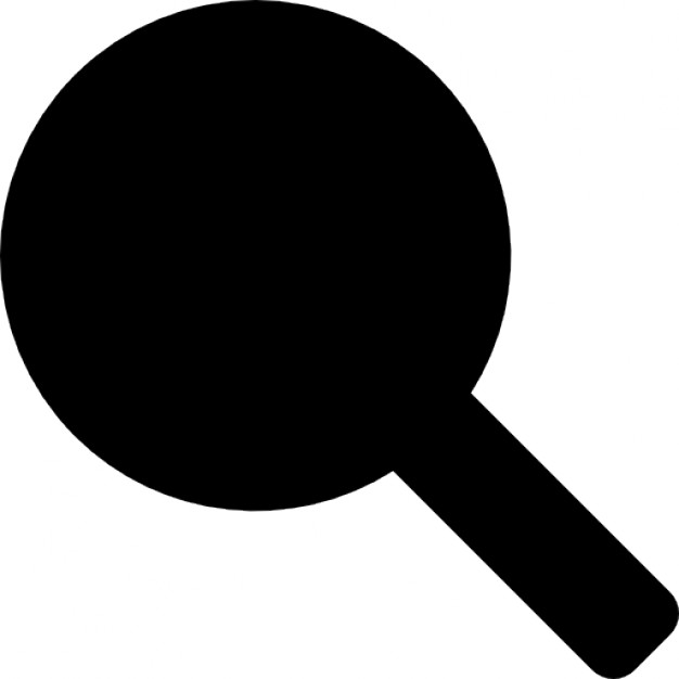 626x626 Table Tennis Racquet Or Rattle Musical Instrument Black Silhouette