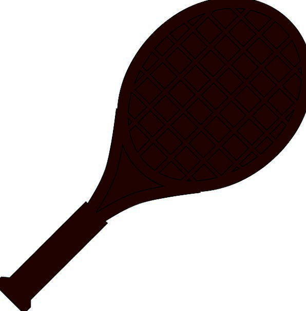 596x607 Tennis, Row, Paddle, Oar, Racket, Sports, Sporting, Silhouette