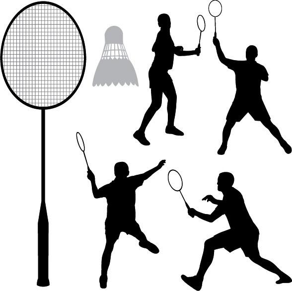 588x586 Badminton Silhouette Vector Free Vector In Encapsulated Postscript