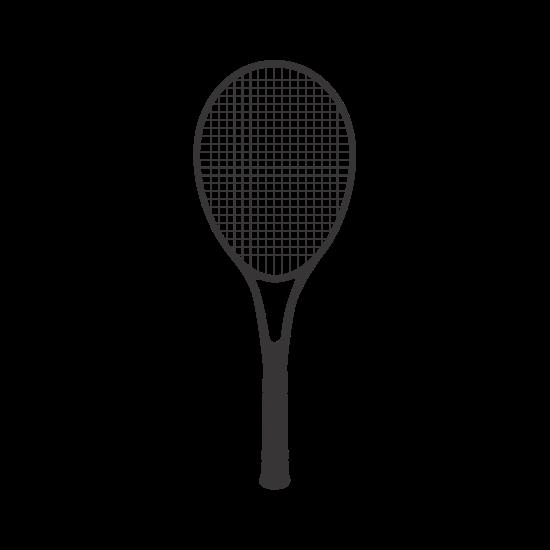 550x550 Tennis Racket Silhouette