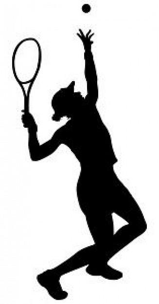 327x626 Tennis Silhouette 2 Photo Free Download