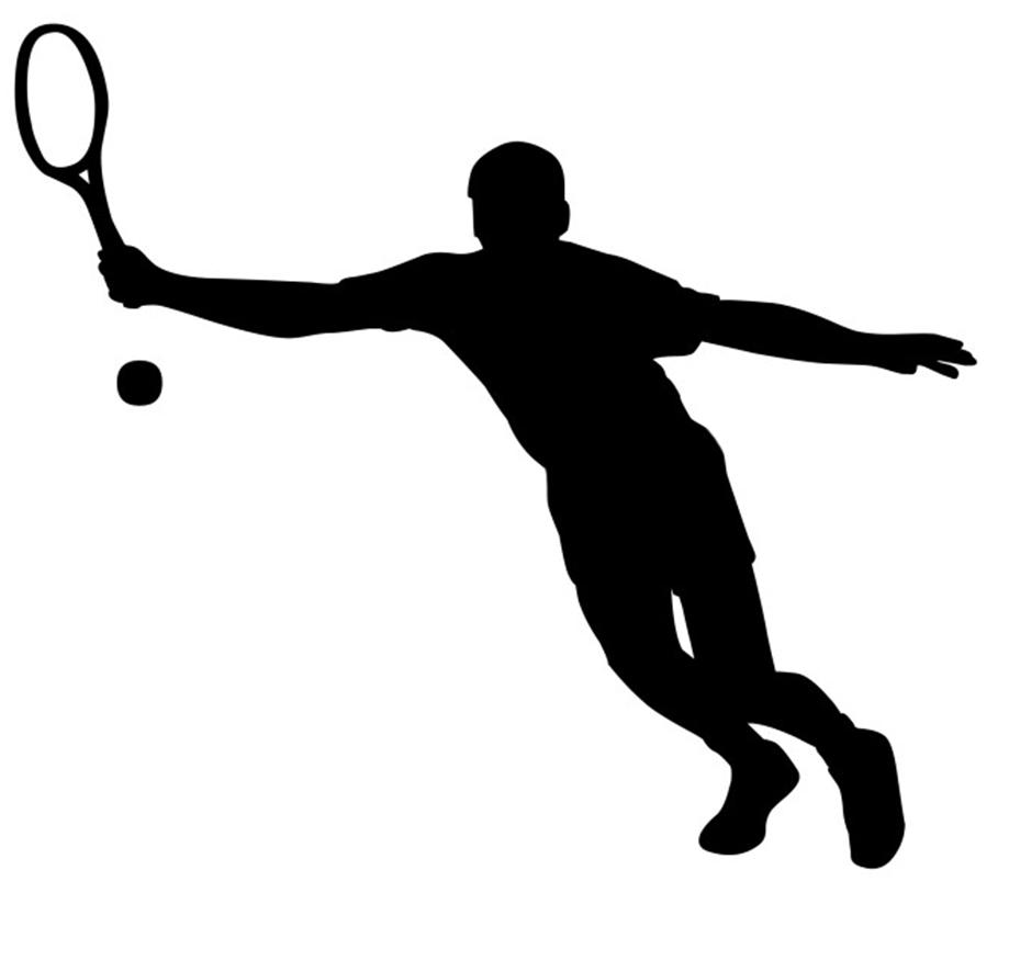 919x886 Tennis Silhouette Clip Art